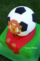 Soccer ball Cake by Verusca
