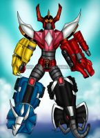 Mighty Morphin Megazord (Sentai Guardian) by blueliberty