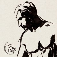 Direct ink sketch: MAN by polpope