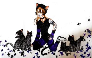 Day 6: Black Cat by chaosqueen122