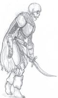 Undead Warrior by DrowessGirl