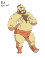 Chubby Zangief by beardrooler