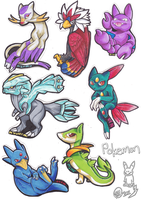 Shay's Pokemon Team by Zolshii
