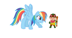 Rainbow Dash and Teemo by DrumblastingQuilava