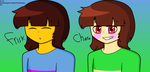 Undertale - Frisk And Chara (anime Form?) by SweetJazzyGirl