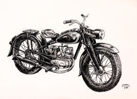 Classic Motorcycle by JadiGrin