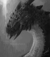 Dragon Lord - Value Study by JoshuaNel