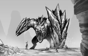 Monster sketch by Arbitrarian