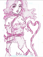 Poison Ivy Sketchcard by SugarSugarHyperLolly