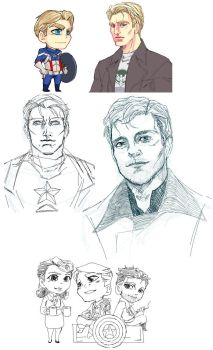 Captain America Paint doodles. by Ptit-Neko
