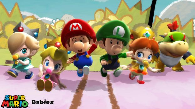 (MMD Model) Super Mario Babies Download by SAB64