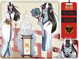 Mitsuko Character Sheet by RawrSexyKitty