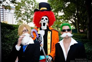 Dressrosa Disguise (And Brook!) - AWA 2014 by kiokukaiba
