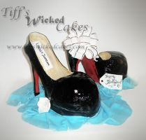 Red Bottom shoes by TiffsWickedCakes