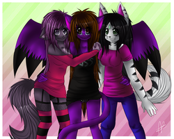 We Three Girls - by_Candiedbananas by OmegaWolfJ