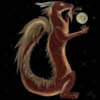 The Dragon and the Moon by Carnifex-Atrox