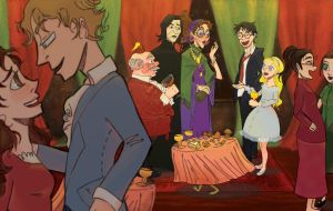 hp: HBP Ch 15, The Party Scene by YazzyDream