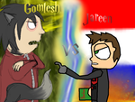 Epic Battle of History: Gomlesh vs. Jareen(Collab) by Ask-Jareen