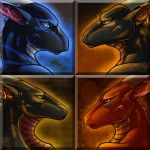 Icon Commishes - Dragonic Brotherhood by TwilightSaint