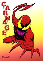 Carnage with axe by TuaX