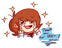 Thanks for 1000+ views!! :'D by GusDraws