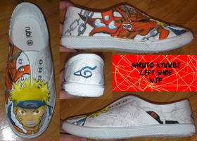 Naruto Kyubbi Left Shoe WIP by animeninjayaya