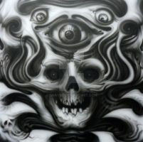 skullish airbrush... in progress by graynd