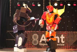 Shockwave and Hot Rod come to blows at FACTS 2011 by KingBookah
