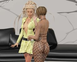 Abbi and Tanya - getting hot... by Y-Phil