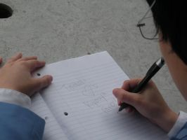 What Kyouya Is Really Writing by AngryJigglypuff