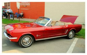 Red Mustang Convertible by TheMan268
