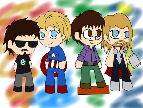 Avengers chibis by Toboe217