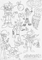 crash bandicoot sketches by cybercortex