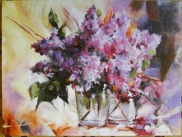 Still-life with a lilac by KRIS9TENA