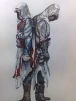 ezio auditore and altair by wildpassion