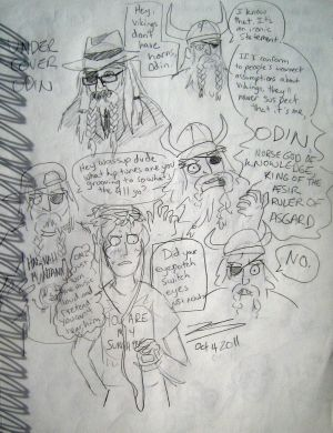 Undercover Odin Sketches