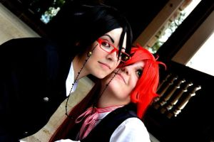 Sharing Shinigami Glasses by PuppetsFall