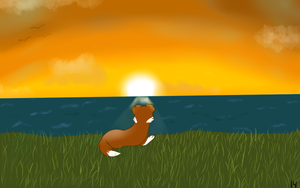 the sunset still looks fake to me by DogsEverywhere