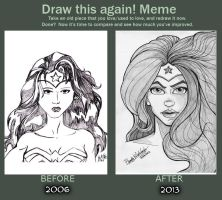 Before and After - Wonder Woman by AnkhsPaw