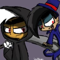 Evil Danny and Nega Timmy by Nicktoonacle
