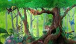 Rainforest Mural by Kchan27