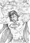 Sketch of Superman by Sersiso