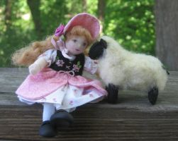 Little Bo Peep and Friend by fairiesnest