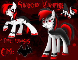 Reference Picture: Shadow Vampire (OC) FiM by CKittyKat98