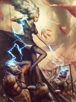 Thunder Witch by Quentinvcastel