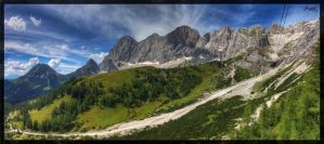 Dachstein Cablecar Panorama by deaconfrost78