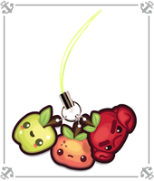 Crabapple Stretch Goal Charms by inki-drop