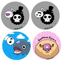 One Piece Buttons 1 by gwingangel