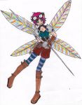 Hyacinth Willoqbough Peaseblossom- Pixie Rogue by VictorianMycomancer