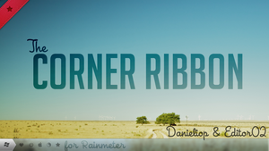 Corner Ribbons for Rainmeter by danieliop